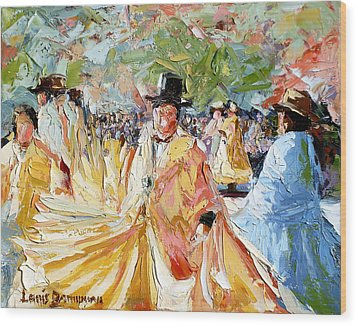 The Dance At La Paz Wood Print