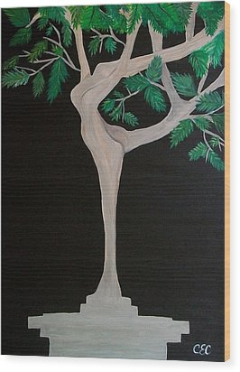 The Dance Wood Print by Carolyn Cable