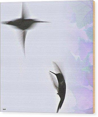 The Dance Of Life Wood Print by Debra     Vatalaro
