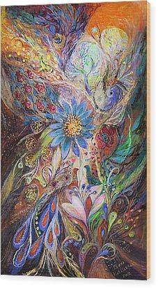 The Dance Of Light Wood Print by Elena Kotliarker