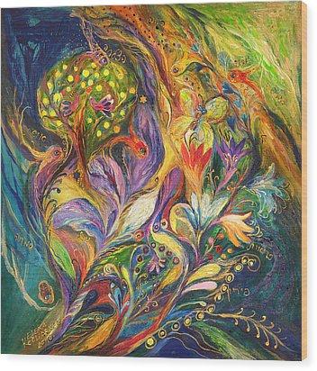 The Dance Of Lilies Wood Print by Elena Kotliarker