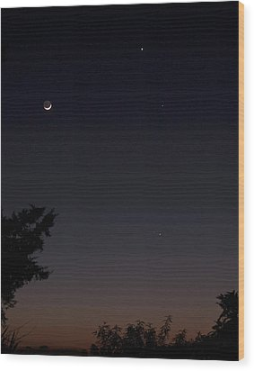 Wood Print featuring the photograph The Dance Of The Planets by Odille Esmonde-Morgan