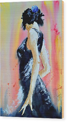 Wood Print featuring the painting The Dance by Steven Ponsford