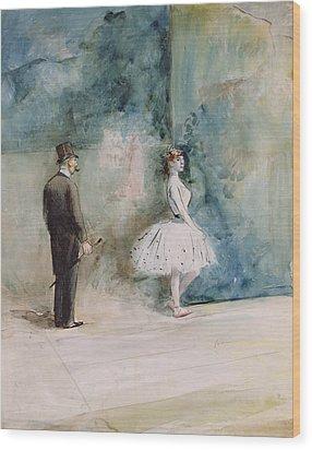 The Dancer Wood Print by Jean Louis Forain