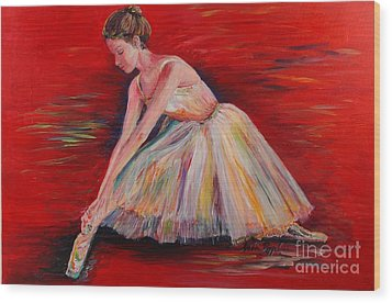The Dancer Wood Print by Nadine Rippelmeyer
