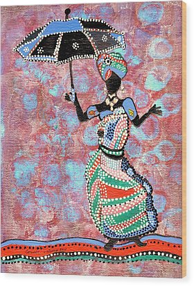 The Dancing Lady Wood Print