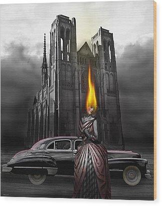 The Dark Angel Wood Print by Larry Butterworth
