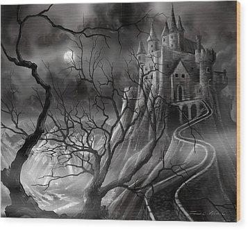The Dark Castle Wood Print