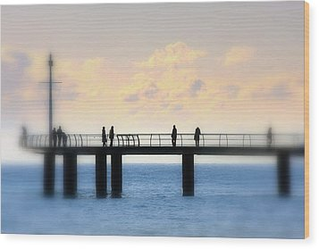 Wood Print featuring the photograph The Day We Met by Martina  Rathgens