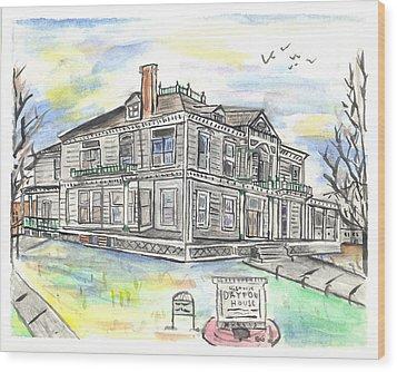 The Dayton House Wood Print by Matt Gaudian