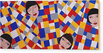 The De Stijl Dolls Wood Print by Tara Hutton