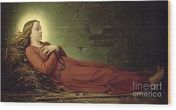 The Death Of Germaine Cousin The Virgin Of Pibrac Wood Print by Alexandre Grellet