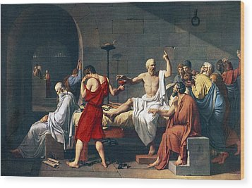 The Death Of Socrates, 1787 Artwork Wood Print by Sheila Terry