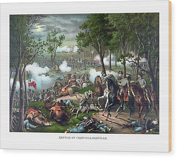The Death Of Stonewall Jackson Wood Print by War Is Hell Store