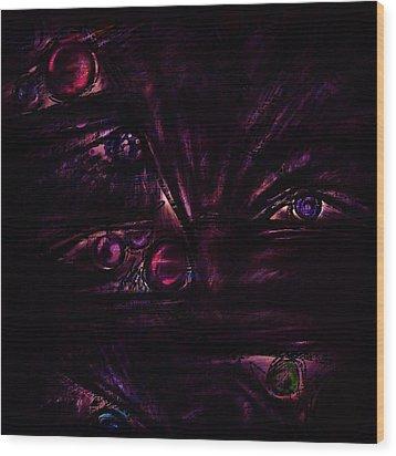 The Deceiver Wood Print by Rachel Christine Nowicki