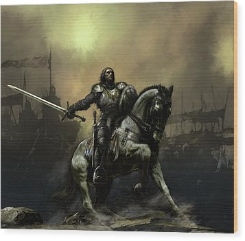 The Defiant Wood Print by David Willicome