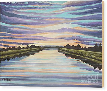 The Delta Experience Wood Print by Elizabeth Robinette Tyndall