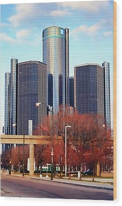 The Detroit Renaissance Center Wood Print by Gordon Dean II