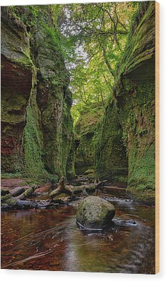 The Devil Pulpit At Finnich Glen Wood Print
