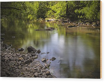 Wood Print featuring the photograph The Devon River by Jeremy Lavender Photography