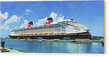The Disney Dream In Nassau Wood Print