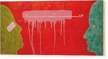 The Distance Between Me And Myself Wood Print by Ana Maria Edulescu