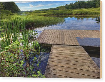 The Dock At Mountainman Wood Print by David Patterson