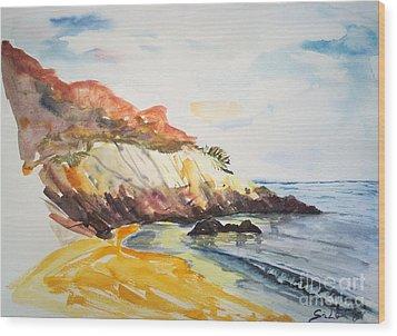 The Dock Beach Wood Print by Lidija Ivanek - SiLa