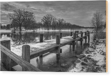 The Dock Wood Print by Everet Regal