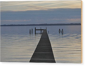 The Dock Wood Print by Tiffney Heaning