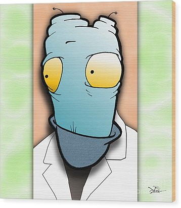 Wood Print featuring the digital art The Doctor by Uncle J's Monsters