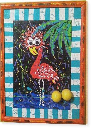 The Dodo Bird Wood Print by Doralynn Lowe