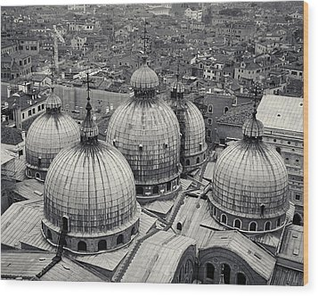 Wood Print featuring the photograph The Domes Of San Marco, Venice, Italy by Richard Goodrich