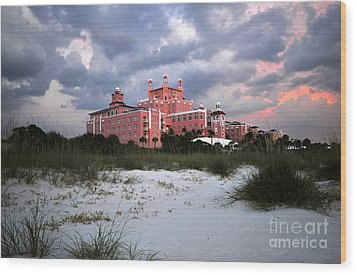 The Don Cesar Wood Print by David Lee Thompson