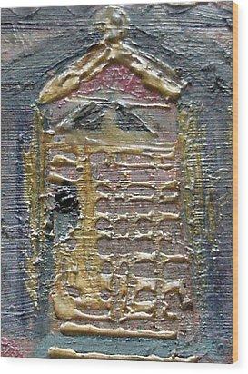 The Door Wood Print by Anne-Elizabeth Whiteway