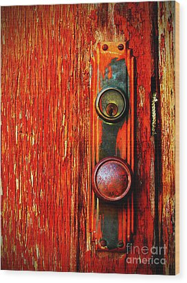 Wood Print featuring the photograph The Door Handle  by Tara Turner