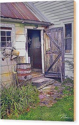 The Door Is Always Open Wood Print by Nancy Griswold