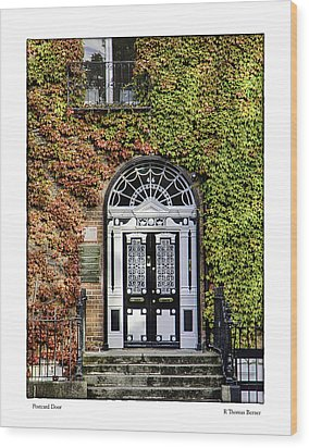 The Door Wood Print by R Thomas Berner