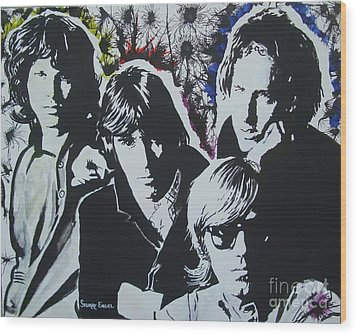 The Doors Wood Print by Stuart Engel
