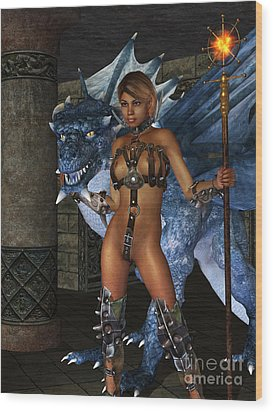 The Dragon Princess Wood Print by Alexander Butler