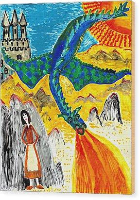 The Dragon Wood Print by Sushila Burgess