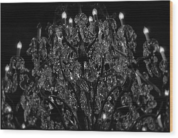 The Drake Chandelier Wood Print