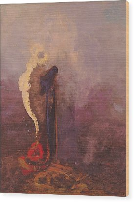 The Dream  Wood Print by Odilon Redon
