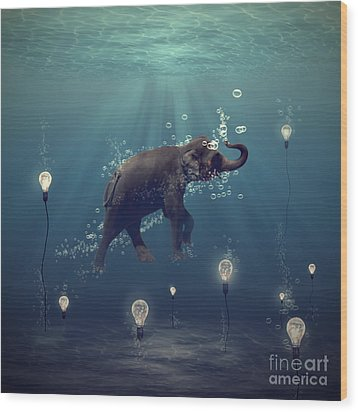 The Dreamer Wood Print by Martine Roch