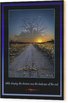 The Dreamer Wood Print by Phil Koch