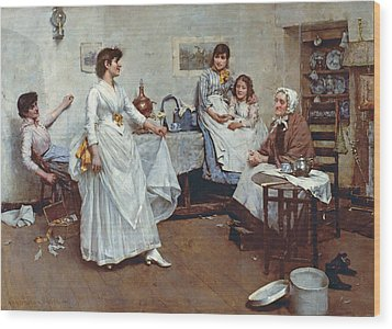 The Dress Rehearsal Wood Print by Albert Chevallier Tayler