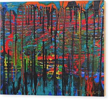 The Drip Wood Print