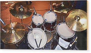 The Drum Set Wood Print