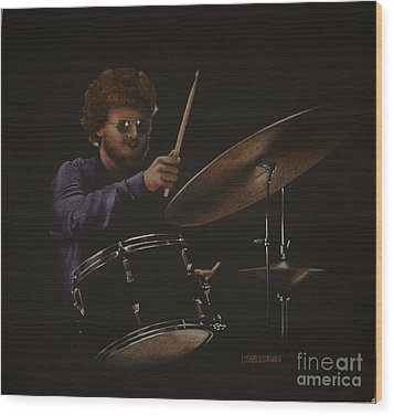The Drummer Wood Print