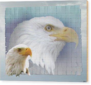 The Eagles Focus Wood Print by Debra     Vatalaro